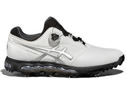 asics gel ace pro x boa golf shoes white black silver golfbox