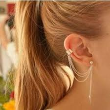 jual ear cuff 304 best stud earrings images on stud earring curls