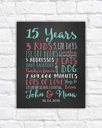 15 year anniversary gift wedding anniversary gifts paper canvas 15 year anniversary