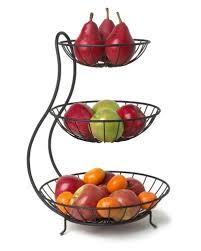 metal fruit basket buy qesyas metal fruit basket 3 tier black online at low prices