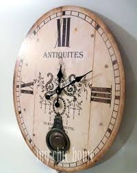 large cream distressed wall clock 12 000 wall clocks