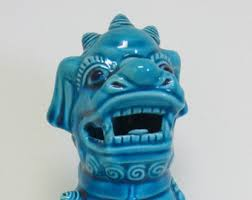 turquoise foo dogs for sale turquoise foo dogs etsy
