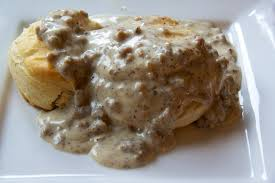 our army life according to the wife biscuits and sausage gravy