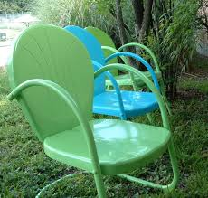 Metal Retro Patio Furniture by My Great Grandpa Used To Have These Patio Chairs Yes I Remember