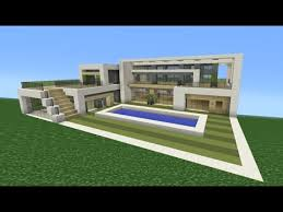 modern mansions minecraft tutorial how to make a modern mansion youtube