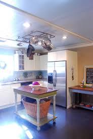 Kitchen Island With Pot Rack Cottage Kitchen Kara Paslay Design