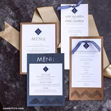 modern wedding program modern wedding program and menu lia griffith