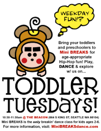 toddler tuesday morning mini breaks class mini breaks