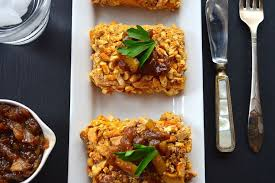 cashew and pretzel crusted tofu with sweet relish vegan