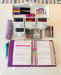 Back To School Desk Organization Planner Supplies Provisiones Para Agendas Organizadores Y