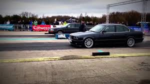 bmw e34 525i 1 4 mile 15 68 youtube