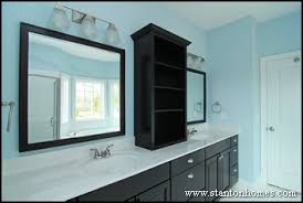 Bathroom Counter Shelves Master Bath Storage Cabinet Ideas Design Build Homes In Nc