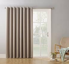Amazon Door Curtains Amazon Com Sun Zero Easton Blackout Patio Door Curtain Panel 100