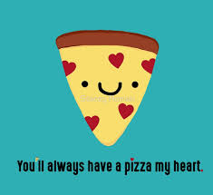 Cute Valentine Meme - pizza pun slice kawaii funny italian puns heart love