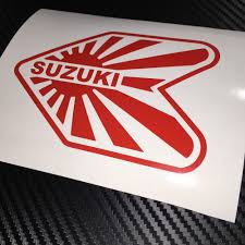 jdm sticker red suzuki wakaba jdm sticker decal drift import tuner jdm