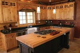 Kitchen Rustic Pine Kitchen Cabinet Ideas With Black Accents And - Rustic pine kitchen cabinets