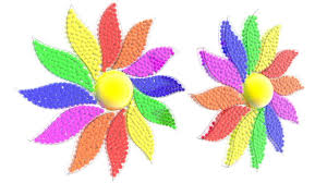 learning colors with 12 leaf flower for kids flowers shapes for