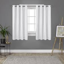 Winter Window Curtains Loha Winter White Linen Grommet Top Window Curtain Eh8181 06 2 63g