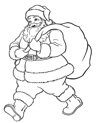 santa christmas coloring pages printable free christmas coloring