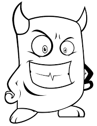 funny monster devil coloring u0026 coloring pages