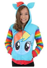 Pony Halloween Costume Girls Girls Rainbow Dash Hoodie