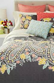 home accessory paisley coral turquoise grey bedding wheretoget