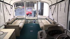 Pontoon Houseboat Floor Plans by Sun Tracker 32 Foot Party Cruiser Enclosures Youtube