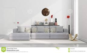 Gray Sofa Decor White Minimalist Living Room Stock Illustration Image 62252999
