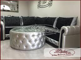 canape marocain best salon marocain moderne noir et argent contemporary amazing