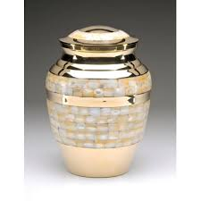 funeral urn gold of pearl cremation urn