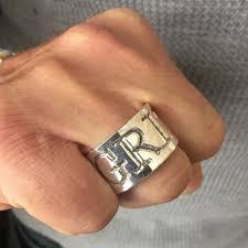 big silver rings images Big bold adjustable silver ring by backyard silversmiths jpg
