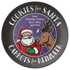 cookies for santa plates zazzle