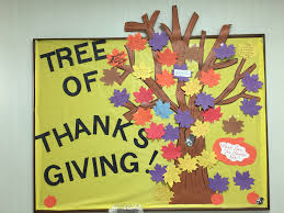 thanksgiving tree bulletin board for our nursing unit patients