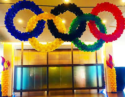 Olympic Themed Decorations Balloons Bouquets And Creative Event Decorations For The San Jose