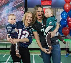 dylan dreyer lingerie savannah guthrie and dylan dreyer race their sons on today daily