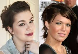 trendy short haircuts for round faces find hairstyle