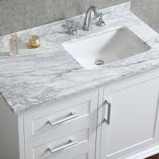Bathroom Hardware Resources Douglas Single  Inch Transitional - White 48 inch bath vanity