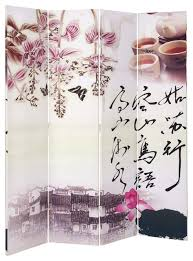 oriental chinese style scenery art wood canvas 4 panel room