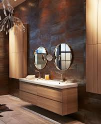 bathroom rustic reclaimed wood horizontal bathroom mirror feat