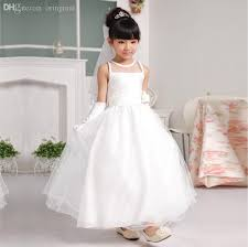 prom dresses for 14 year olds 2018 wholesale high quality flower dress white simple