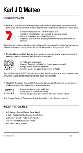 Examples Of Teen Resumes by Presenter U0026 Announcer Resume