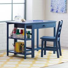 Kid At Desk by Amazon Com Lipper Writing Workstation Desk And Chair Navy