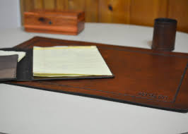 Office Desk Pad Desk Pad Office Blotter Pad In Grain Leather
