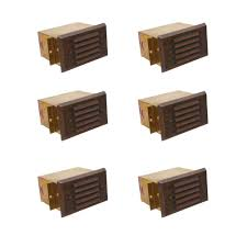 louvered step light cover illumine matte bronze outdoor deck light box with small brass