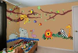 Jungle Wall Decal For Nursery Jungle Wall Decals Rainforest Design Idea And Decorations Baby