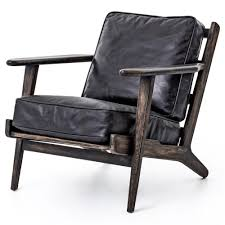 Leather Lounge Chair Mid Century Modern Leather Lounge Chair Zin Home