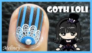 gothic nail art design stamping tutorial for short nails