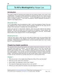 ks4 to kill a mockingbird by harper lee teachit english
