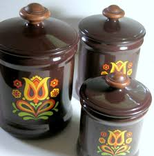 Retro Kitchen Canisters by Canister Set Canisters Retro Canister Set Vintage Kitchen Vintage