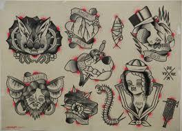 neo traditional bat skull snake flash tattooshunt com